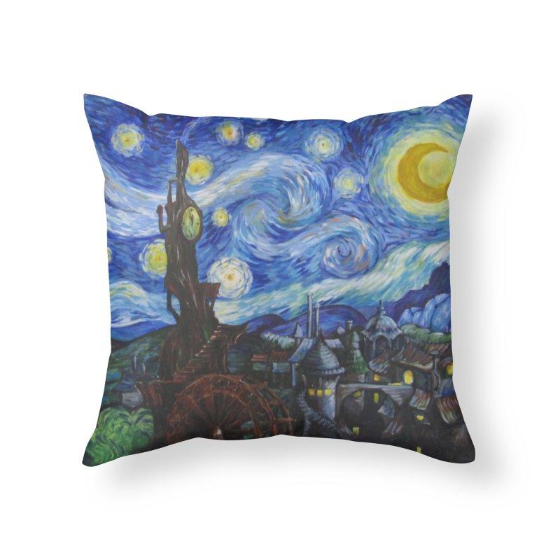 Steampunk Starry Night Home Throw Pillow by Yodagoddess' Artist Shop