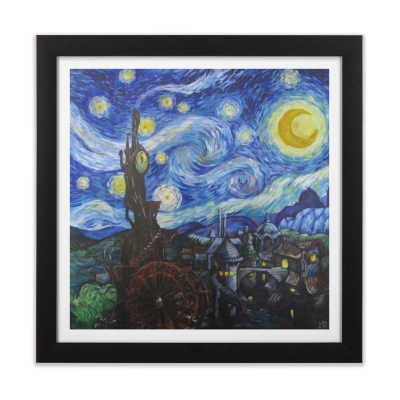 Steampunk Starry Night Home Framed Fine Art Print by Yodagoddess' Artist Shop