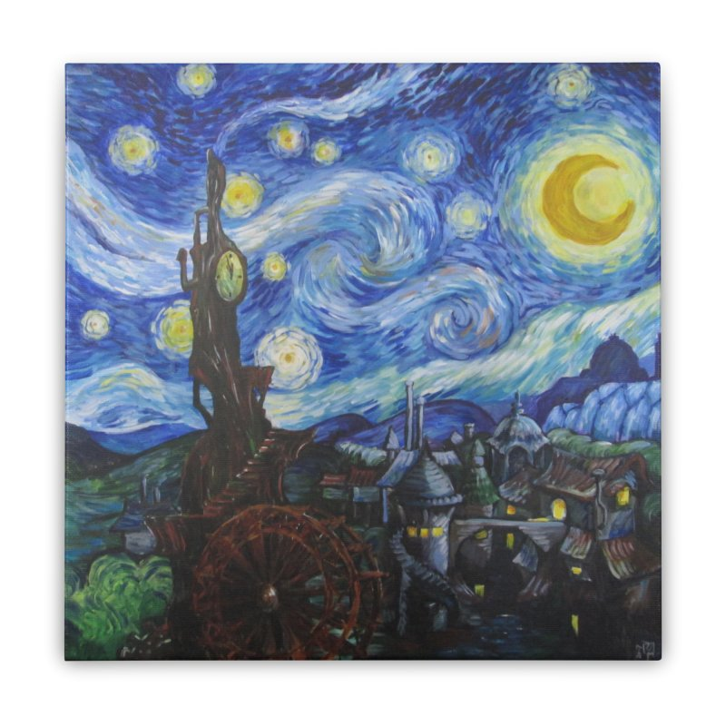 Steampunk Starry Night Home Stretched Canvas by Yodagoddess' Artist Shop