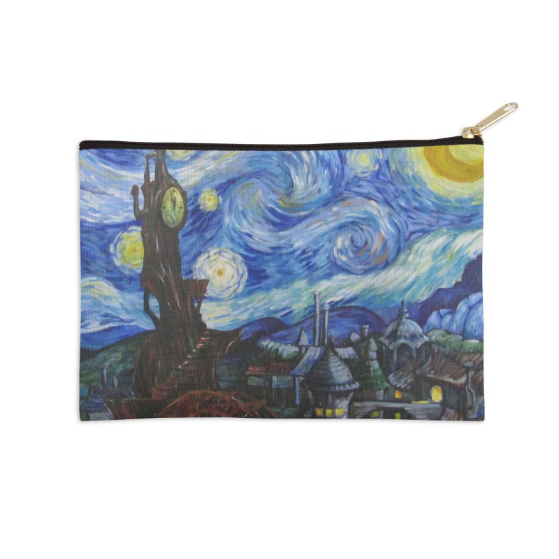 Steampunk Starry Night Accessories Zip Pouch by Yodagoddess' Artist Shop
