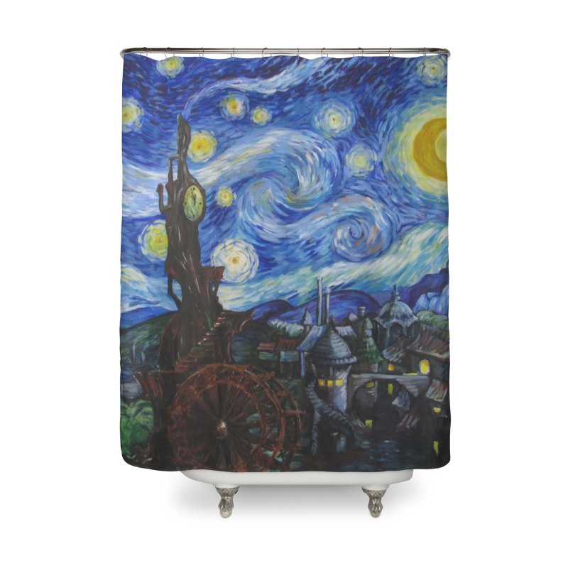 Steampunk Starry Night Home Shower Curtain by Yodagoddess' Artist Shop