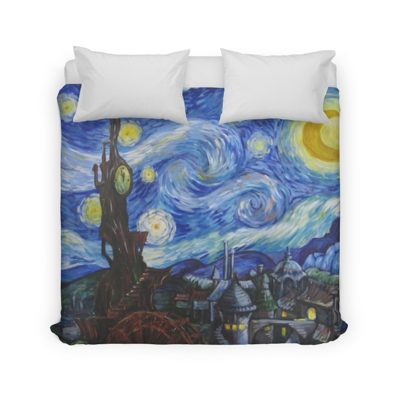 Steampunk Starry Night Home Duvet by Yodagoddess' Artist Shop