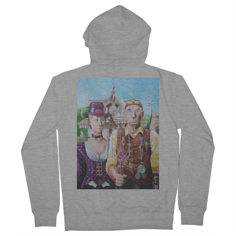 American Steampunk Men's French Terry Zip-Up Hoody by Yodagoddess' Artist Shop