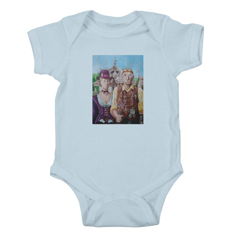 American Steampunk Kids Baby Bodysuit by Yodagoddess' Artist Shop