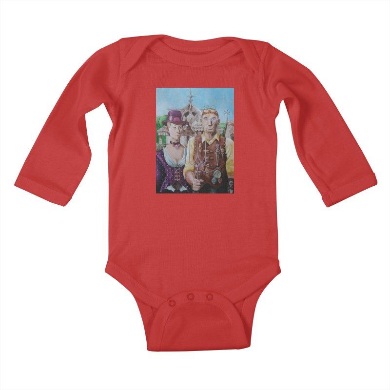 American Steampunk Kids Baby Longsleeve Bodysuit by Yodagoddess' Artist Shop
