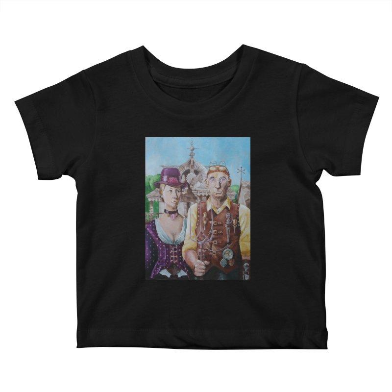 American Steampunk Kids Baby T-Shirt by Yodagoddess' Artist Shop
