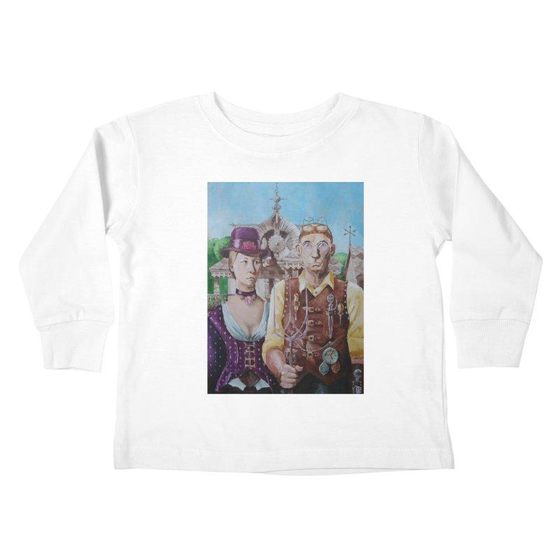 American Steampunk Kids Toddler Longsleeve T-Shirt by Yodagoddess' Artist Shop