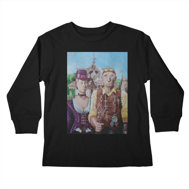 American Steampunk Kids Longsleeve T-Shirt by Yodagoddess' Artist Shop