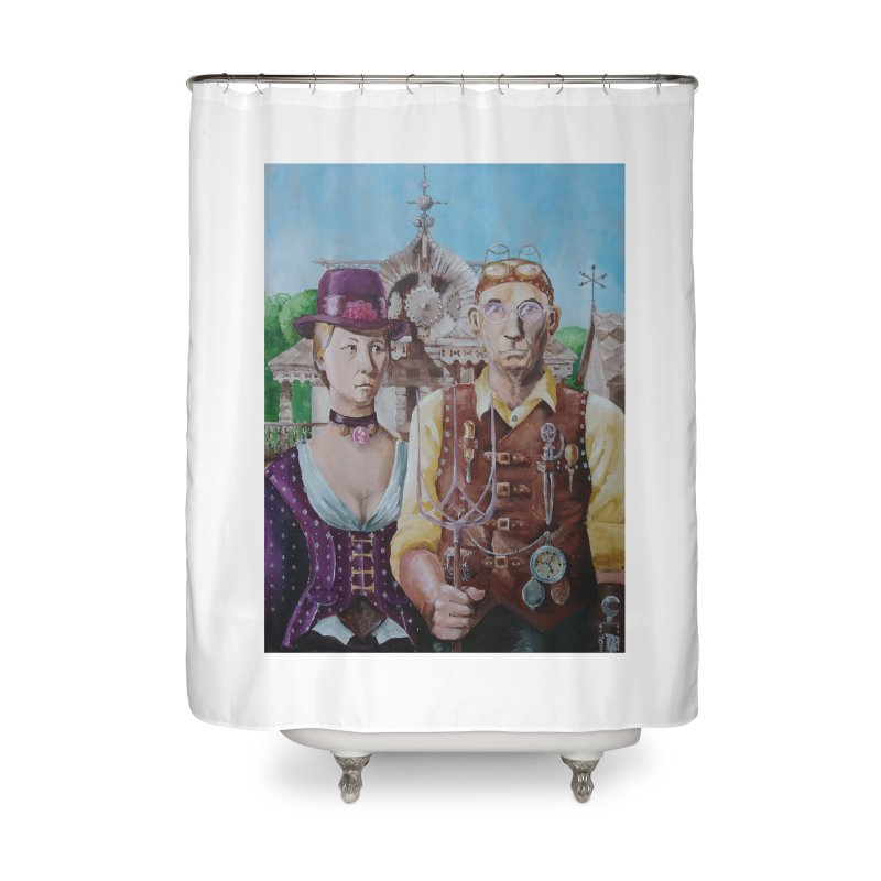 American Steampunk Home Shower Curtain by Yodagoddess' Artist Shop