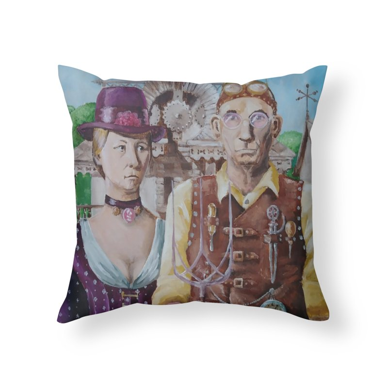American Steampunk Home Throw Pillow by Yodagoddess' Artist Shop
