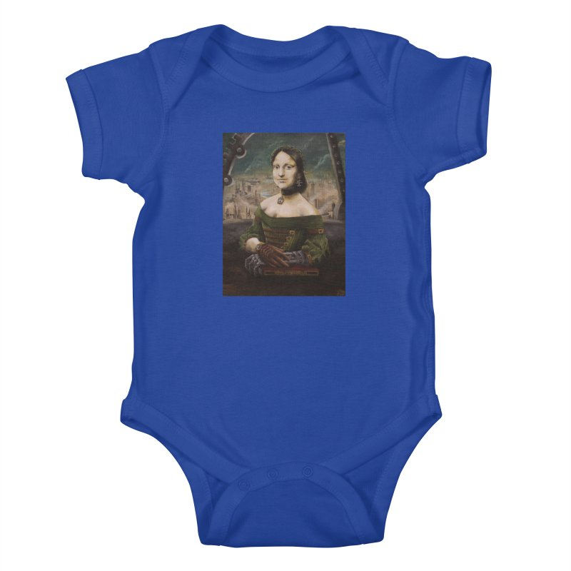 Skycaptain Mona Kids Baby Bodysuit by Yodagoddess' Artist Shop