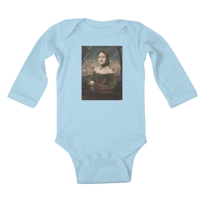 Skycaptain Mona Kids Baby Longsleeve Bodysuit by Yodagoddess' Artist Shop