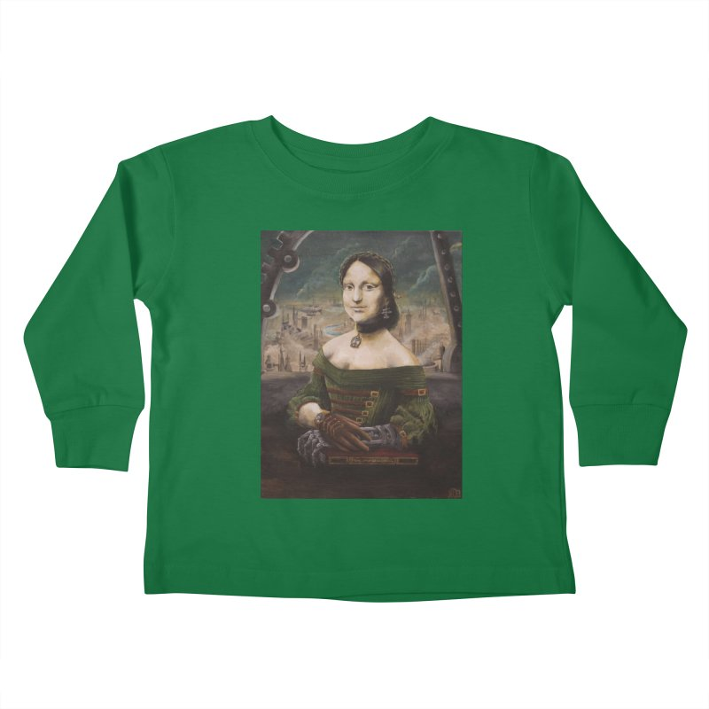 Skycaptain Mona Kids Toddler Longsleeve T-Shirt by Yodagoddess' Artist Shop