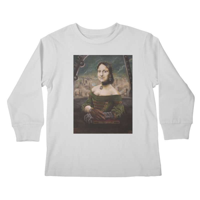 Skycaptain Mona Kids Longsleeve T-Shirt by Yodagoddess' Artist Shop