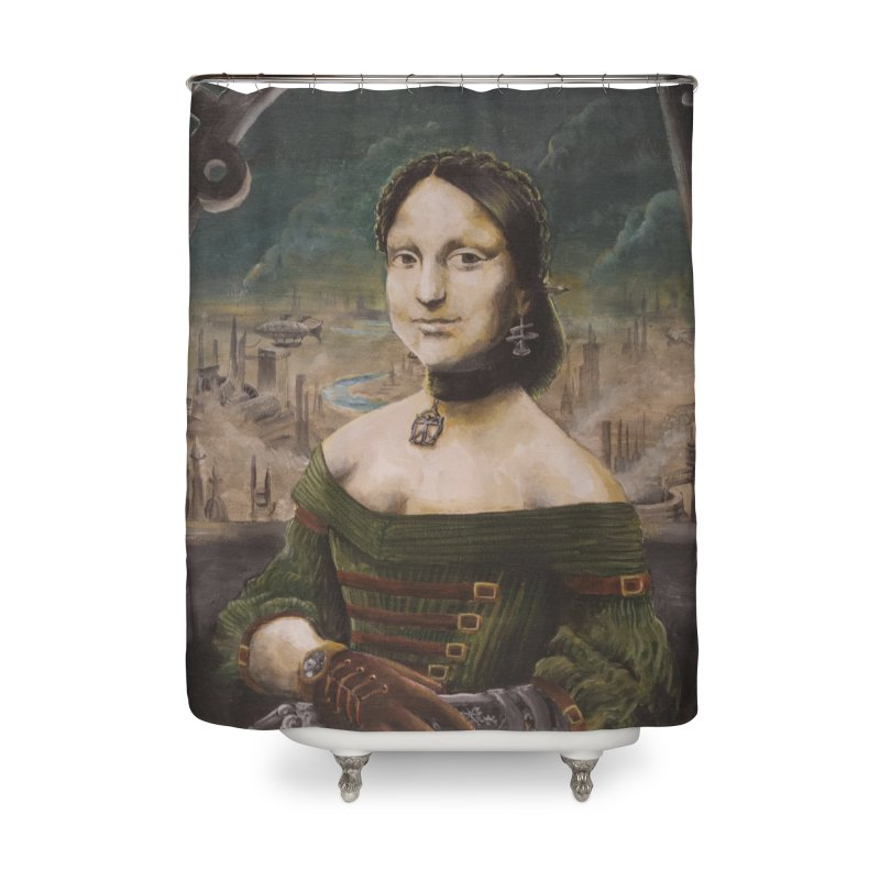 Skycaptain Mona Home Shower Curtain by Yodagoddess' Artist Shop