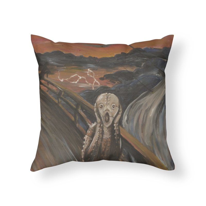 Screampunk Home Throw Pillow by Yodagoddess' Artist Shop