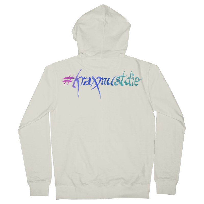 #kraxmustdie (cool colors) Men's Zip-Up Hoody by Yodagoddess' Artist Shop