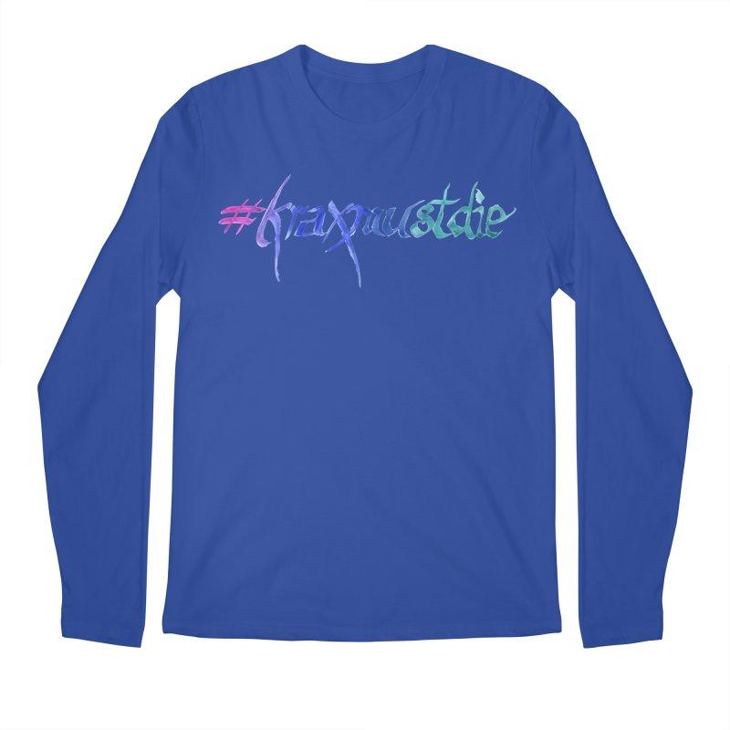 #kraxmustdie (cool colors) Men's Regular Longsleeve T-Shirt by Yodagoddess' Artist Shop