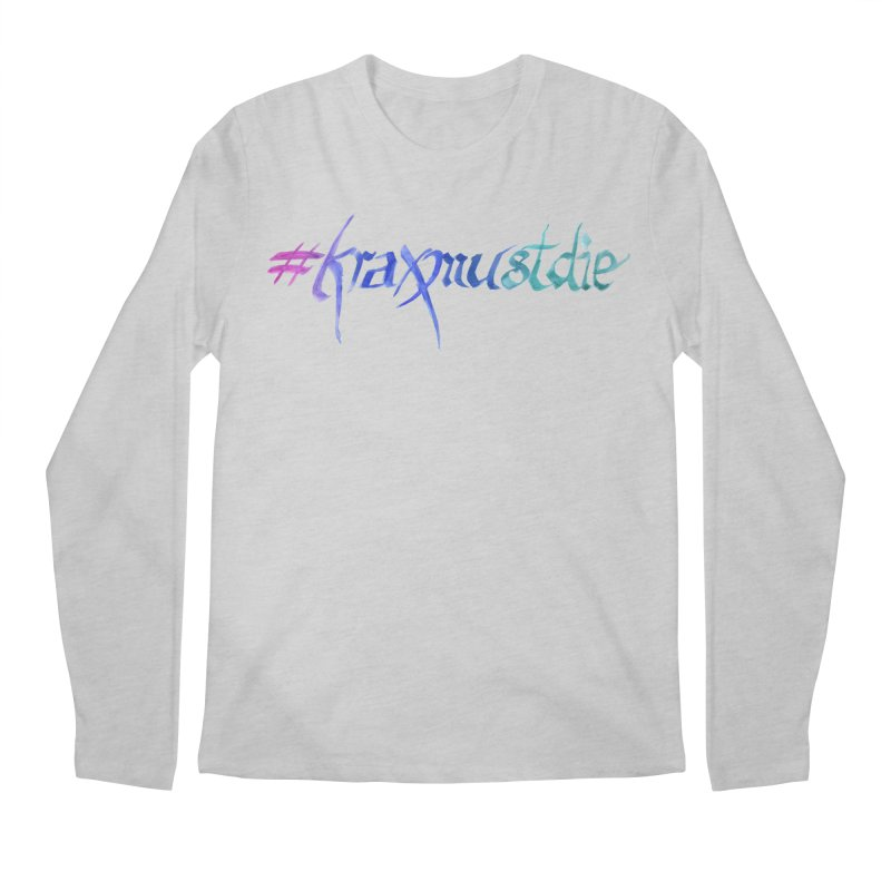 #kraxmustdie (cool colors) Men's Longsleeve T-Shirt by Yodagoddess' Artist Shop