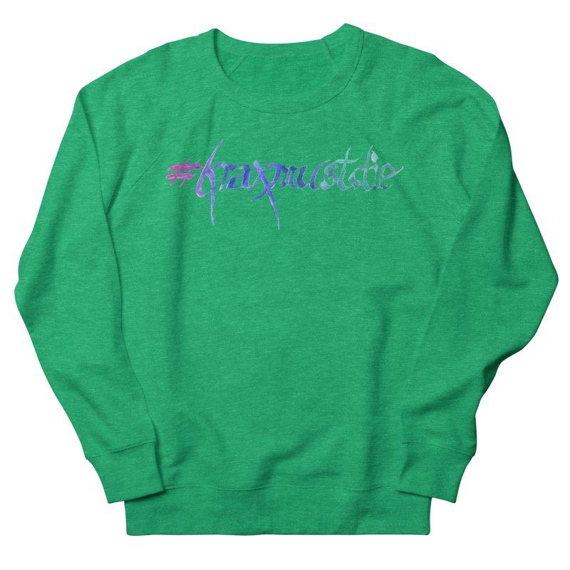#kraxmustdie (cool colors) Men's French Terry Sweatshirt by Yodagoddess' Artist Shop