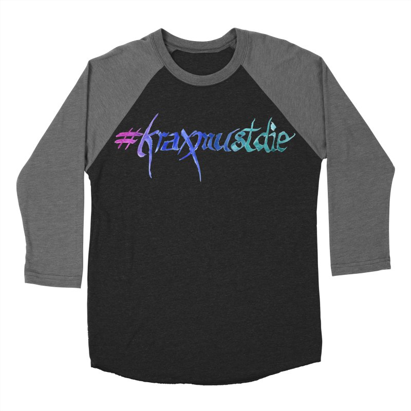 #kraxmustdie (cool colors) Women's Baseball Triblend Longsleeve T-Shirt by Yodagoddess' Artist Shop