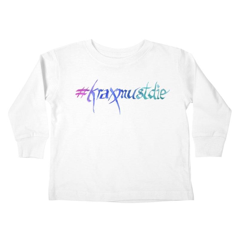 #kraxmustdie (cool colors) Kids Toddler Longsleeve T-Shirt by Yodagoddess' Artist Shop