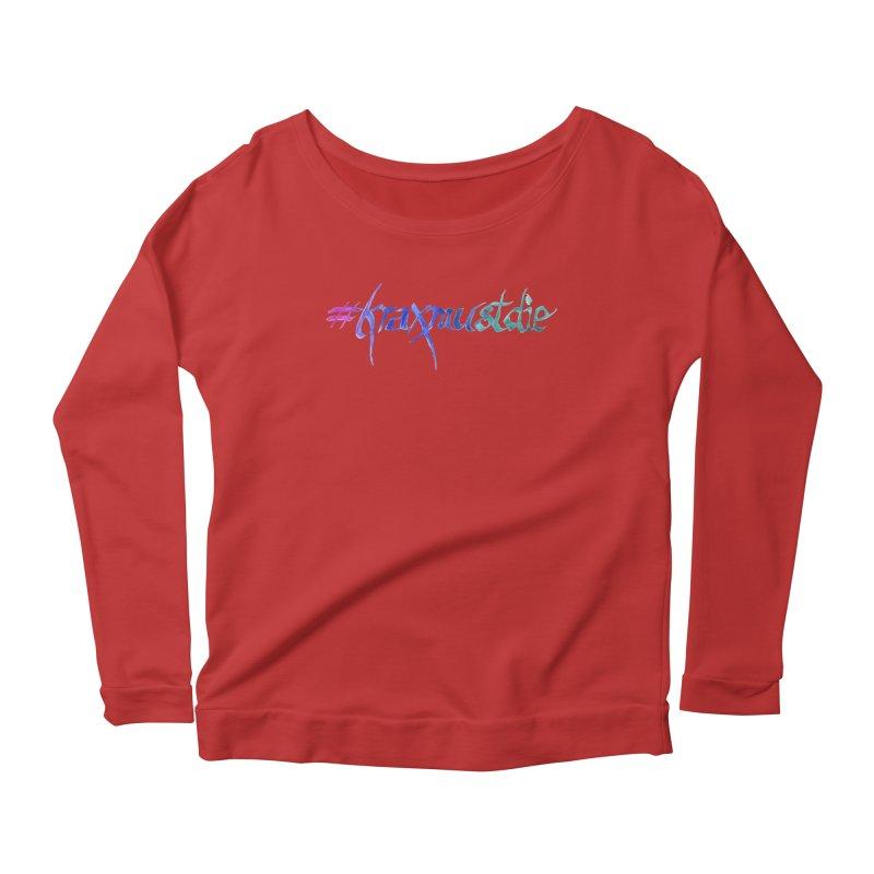 #kraxmustdie (cool colors) Women's Longsleeve Scoopneck  by Yodagoddess' Artist Shop