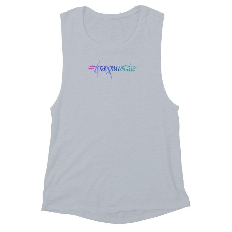 #kraxmustdie (cool colors) Women's Muscle Tank by Yodagoddess' Artist Shop