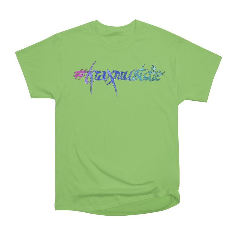 hashtag outlined (cool colors) Women's Heavyweight Unisex T-Shirt by Yodagoddess' Artist Shop