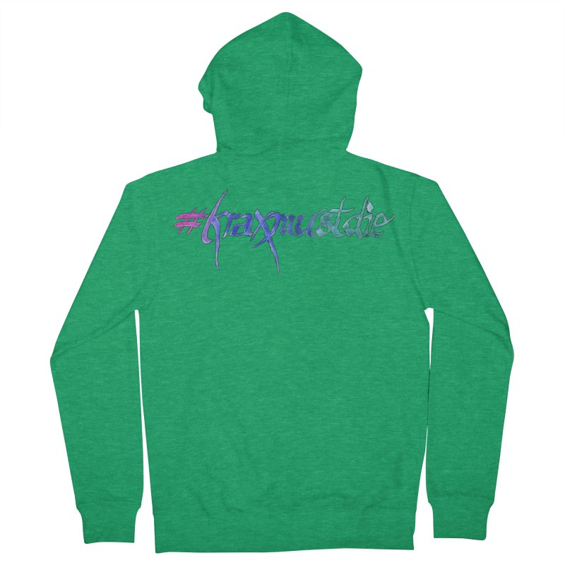 hashtag outlined (cool colors) Women's French Terry Zip-Up Hoody by Yodagoddess' Artist Shop