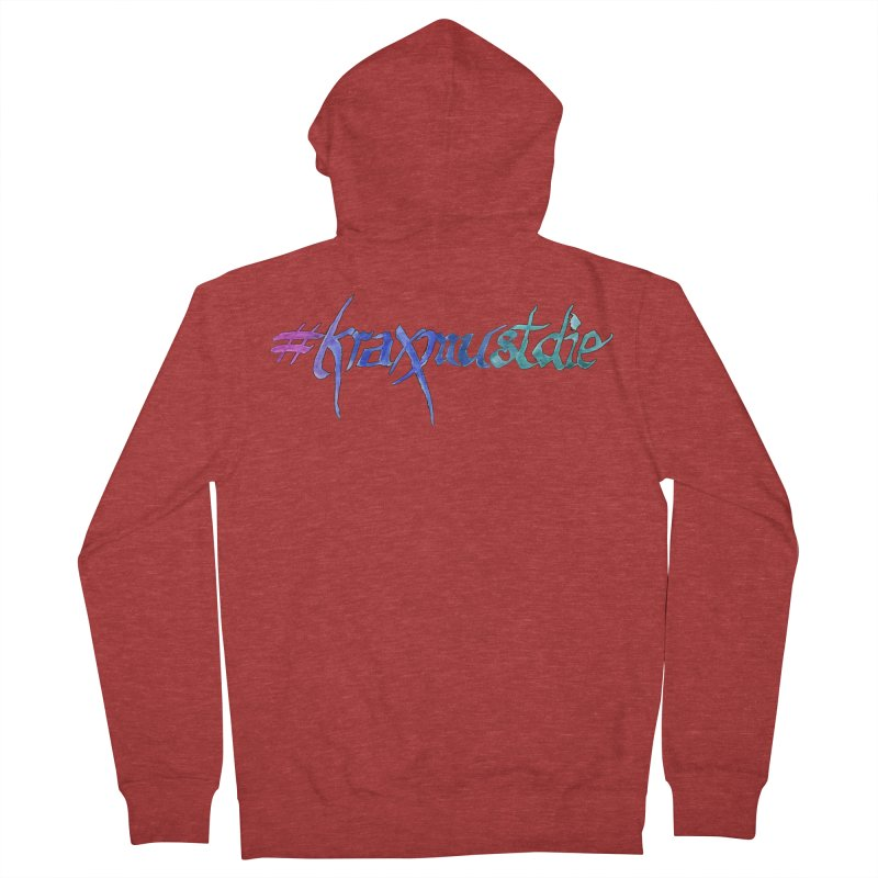 hashtag outlined (cool colors) Women's Zip-Up Hoody by Yodagoddess' Artist Shop