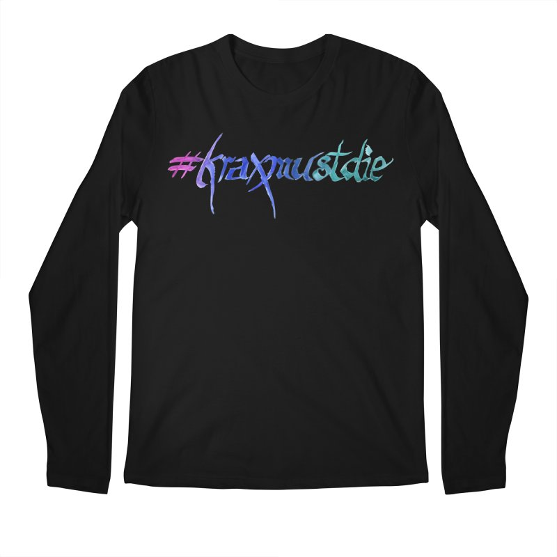 hashtag outlined (cool colors) Men's Longsleeve T-Shirt by Yodagoddess' Artist Shop