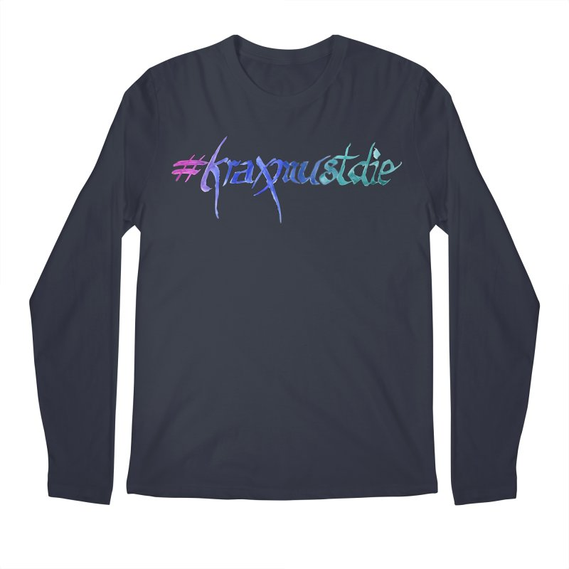 hashtag outlined (cool colors) Men's Regular Longsleeve T-Shirt by Yodagoddess' Artist Shop