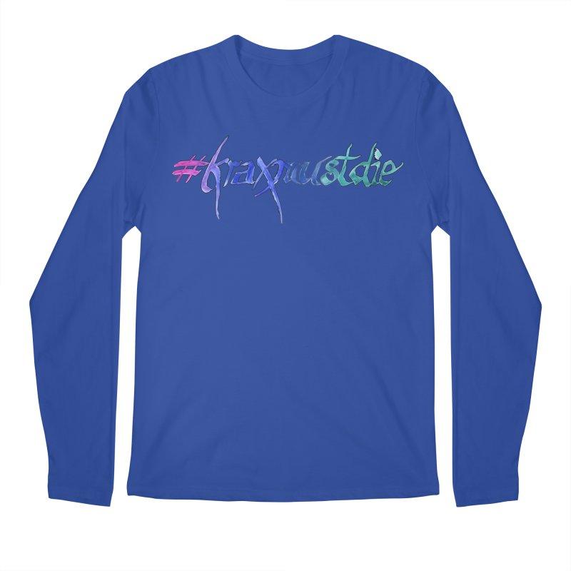 hashtag outlined (cool colors) Men's Regular Longsleeve T-Shirt by Yodagoddess' Artist Shop
