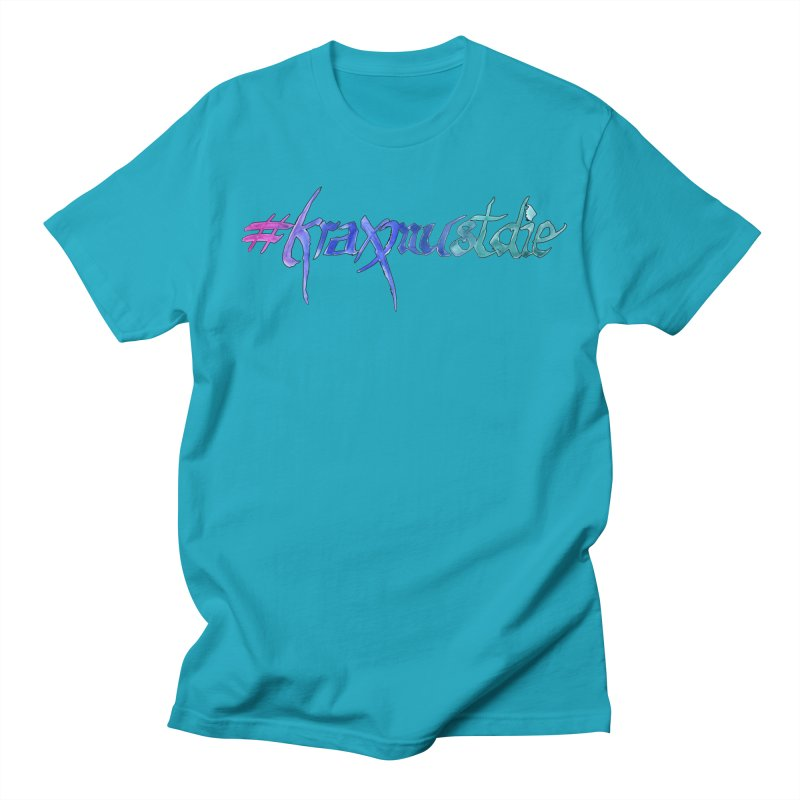 hashtag outlined (cool colors) Men's T-Shirt by Yodagoddess' Artist Shop