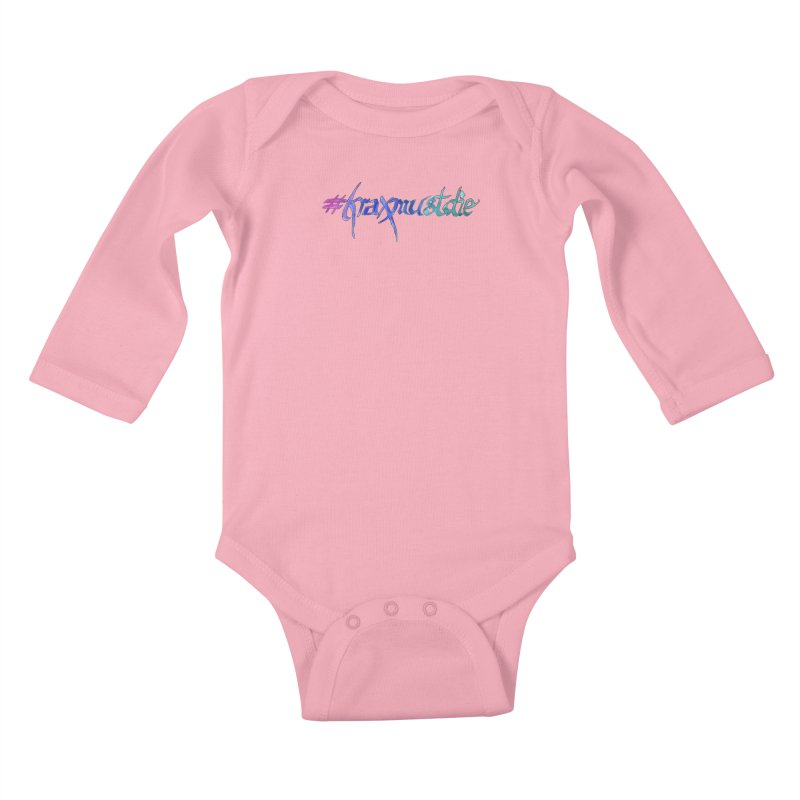 hashtag outlined (cool colors) Kids Baby Longsleeve Bodysuit by Yodagoddess' Artist Shop