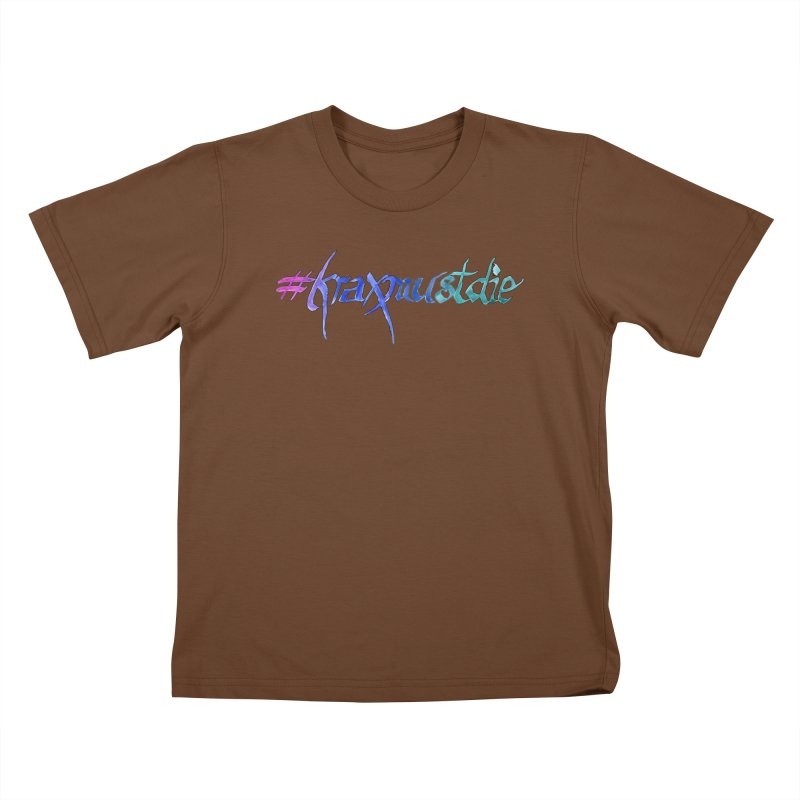 hashtag outlined (cool colors) Kids T-Shirt by Yodagoddess' Artist Shop