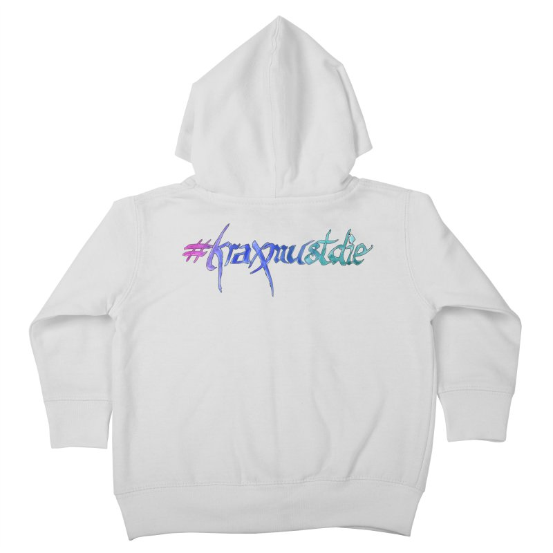 hashtag outlined (cool colors) Kids Toddler Zip-Up Hoody by Yodagoddess' Artist Shop