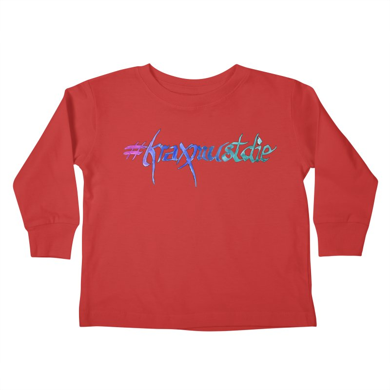 hashtag outlined (cool colors) Kids Toddler Longsleeve T-Shirt by Yodagoddess' Artist Shop