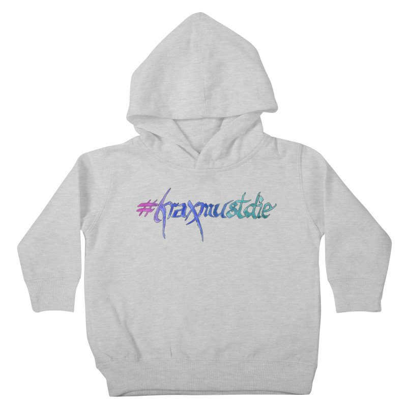 hashtag outlined (cool colors) Kids Toddler Pullover Hoody by Yodagoddess' Artist Shop