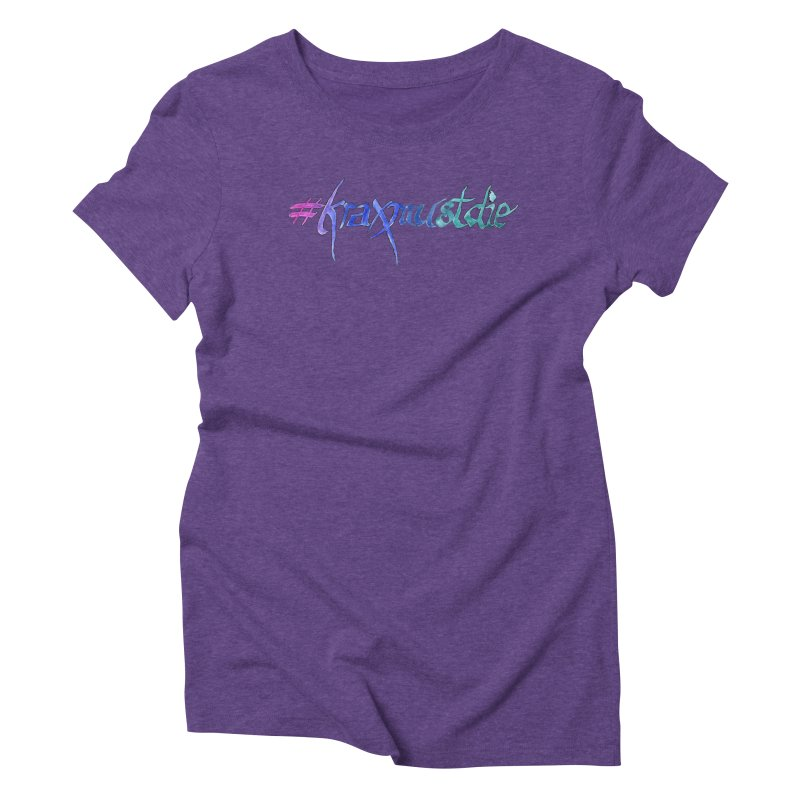 hashtag outlined (cool colors) Women's Triblend T-Shirt by Yodagoddess' Artist Shop