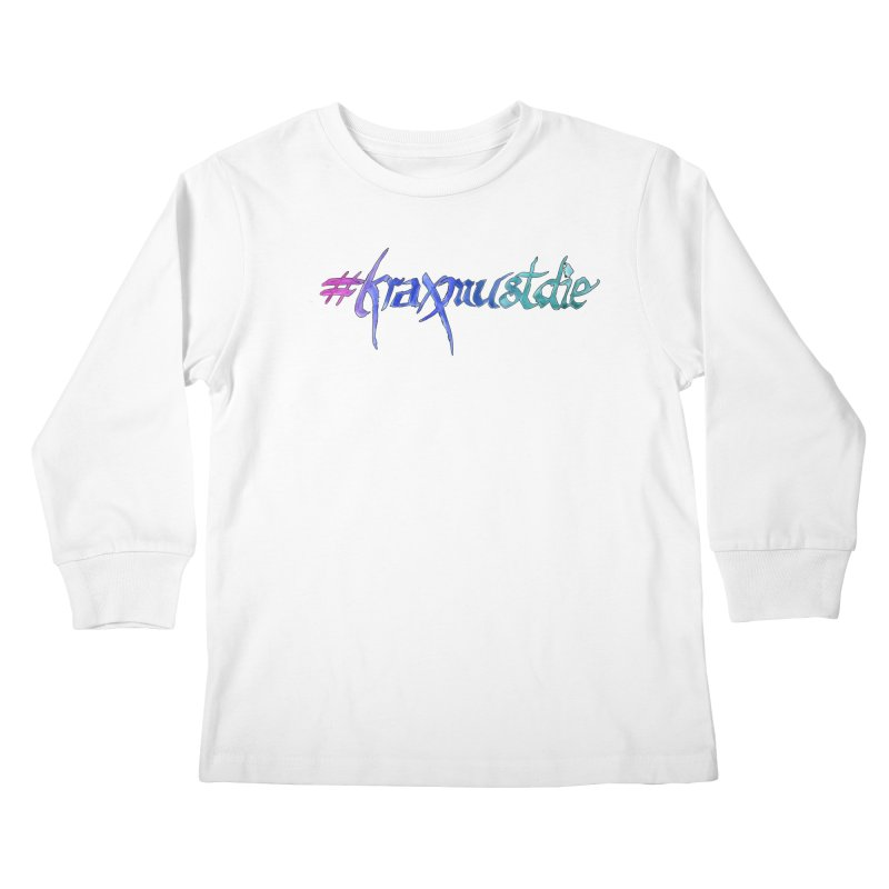 hashtag outlined (cool colors) Kids Longsleeve T-Shirt by Yodagoddess' Artist Shop