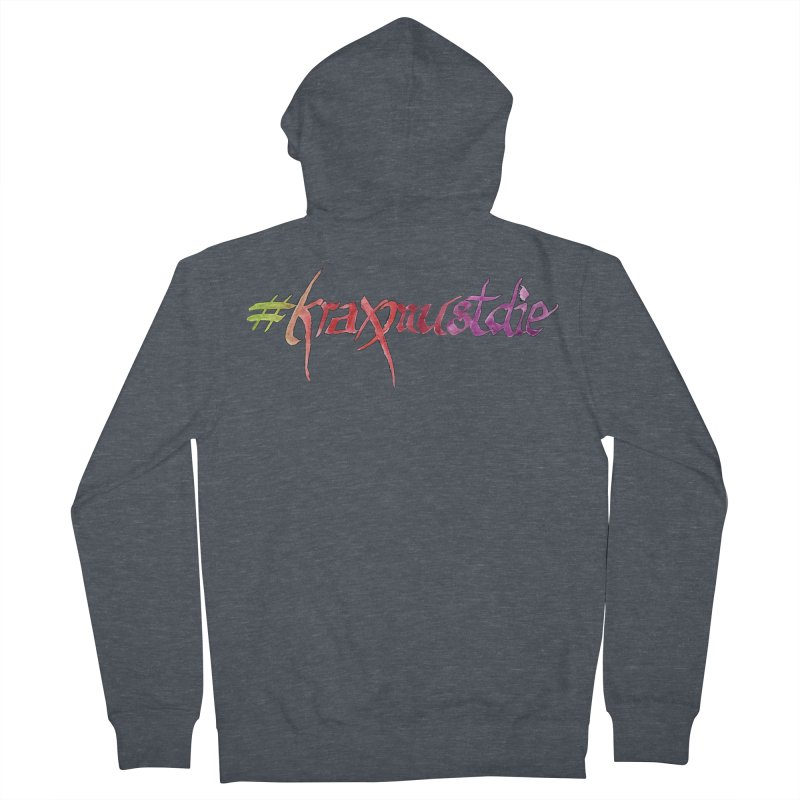 hashtag outlined (warm colors) Women's French Terry Zip-Up Hoody by Yodagoddess' Artist Shop