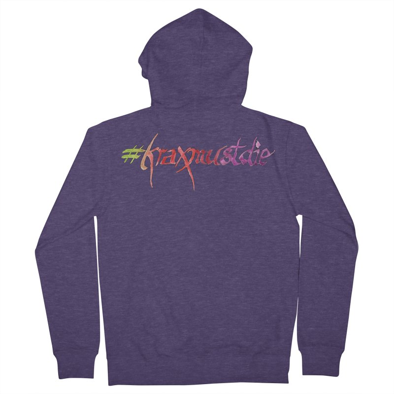 hashtag outlined (warm colors) Men's Zip-Up Hoody by Yodagoddess' Artist Shop