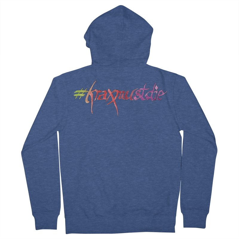 hashtag outlined (warm colors) Men's French Terry Zip-Up Hoody by Yodagoddess' Artist Shop