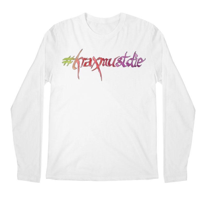 hashtag outlined (warm colors) Men's Regular Longsleeve T-Shirt by Yodagoddess' Artist Shop