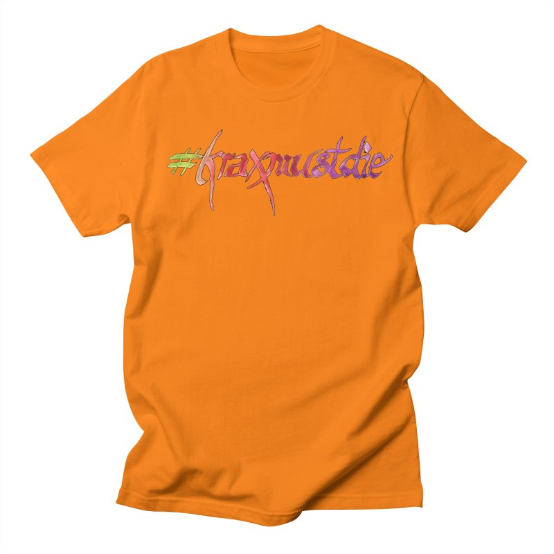hashtag outlined (warm colors) Men's T-Shirt by Yodagoddess' Artist Shop