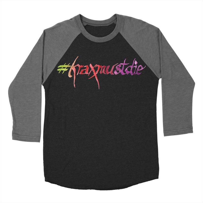 hashtag outlined (warm colors) Men's Baseball Triblend T-Shirt by Yodagoddess' Artist Shop