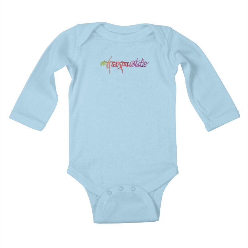 hashtag outlined (warm colors) Kids Baby Longsleeve Bodysuit by Yodagoddess' Artist Shop