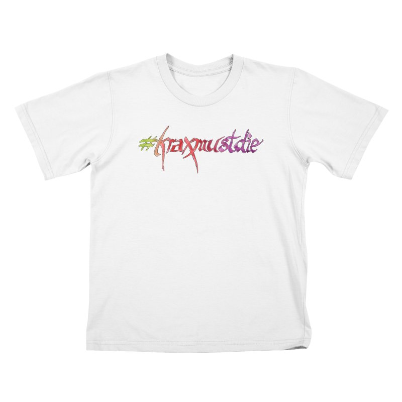 hashtag outlined (warm colors) Kids T-Shirt by Yodagoddess' Artist Shop